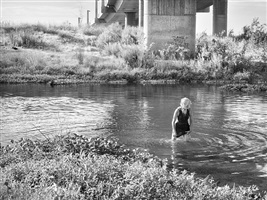 deb soaking wet, tuolumne river, modesto, ca by katy grannan