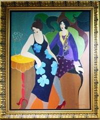 floral dress by itzchak tarkay