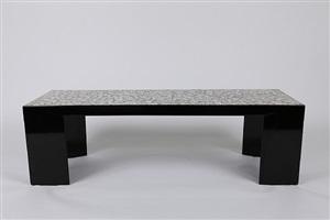 grande table basse en laque noire by jean dunand