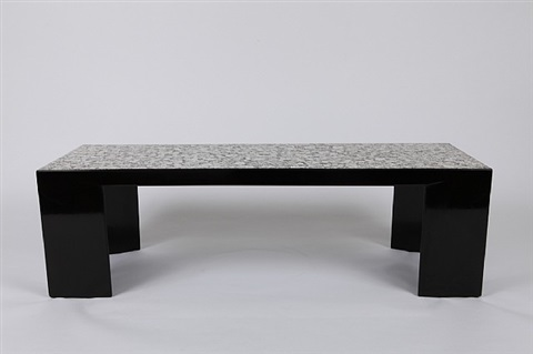 Grande table basse en laque noire by jean dunand on artnet - Table basse grande dimension ...