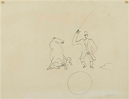 ringmaster and horse by alexander calder