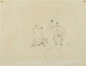 ringmaster and horse by alexander calder