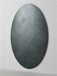 untitled (grey ellipse) by jim hodges