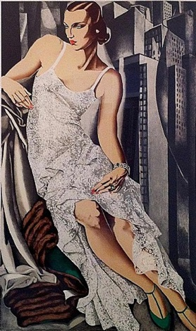 lady in lace by tamara de lempicka