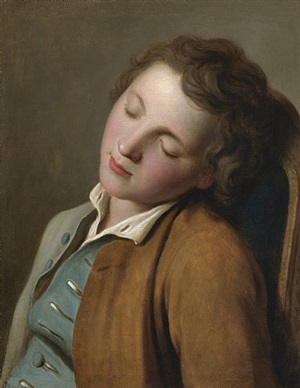 boy sleeping, dresden by pietro antonio rotari