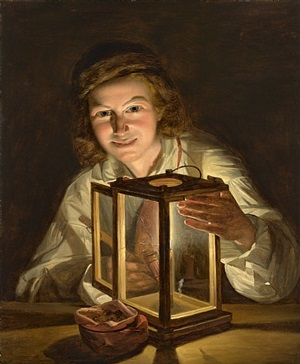 'stable lad with a lantern'. a rediscovered self-portrait by ferdinand georg waldmüller by ferdinand georg waldmüller