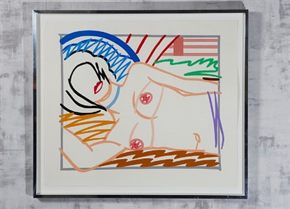 monica in half slip by tom wesselmann