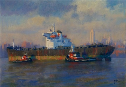 freighter and tugs by joseph peller