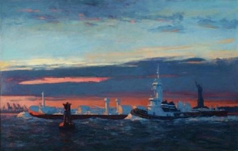 harbor twilight by joseph peller