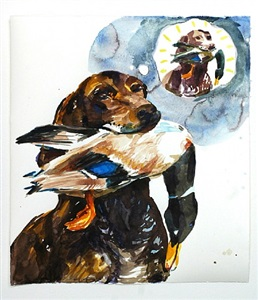 o.t, (hund mit ente) by cony theis