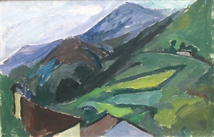 mountain landscape by mildred bendall
