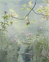 untitled (pink flowers) by sandra kantanen
