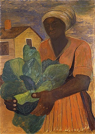 untitled (harvesting tobacco) by romare bearden