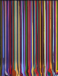 puddle painting: mars black by ian davenport