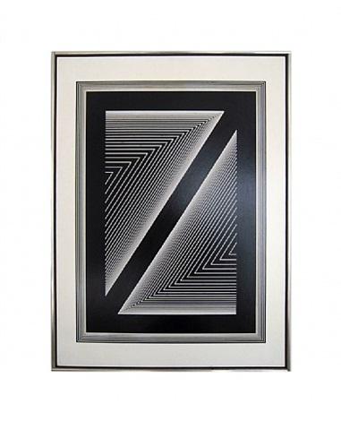 black diagonal by richard anuszkiewicz