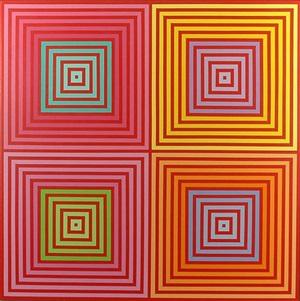 four on four by richard anuszkiewicz