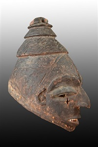 igbo mask, nigeria by unknown