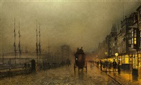 saturday night on the clyde at glasgow by john atkinson grimshaw