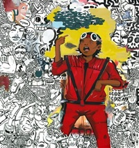 thriller (michael jackson) from made believe by hebru brantley