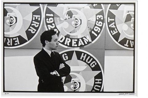 robert indiana with the demuth american dream 5 by william john kennedy