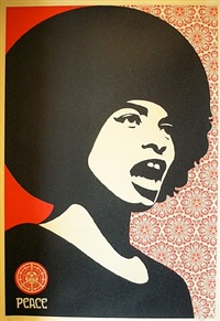 angela davis by shepard fairey