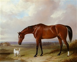 bay hunter and terrier by william barraud