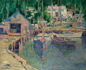 harbor scene by walter farndon