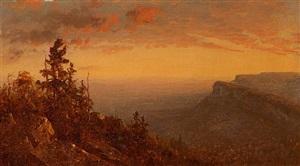 sunset over the shawangunks by sanford robinson gifford