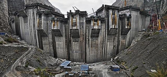 xiluodu dam #5, yangtze river, yunnan province, china by edward burtynsky