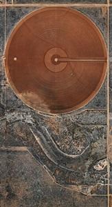 pivot irrigation #40, high plains, texas panhandle, usa by edward burtynsky