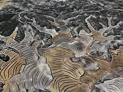 dryland farming #5, monegros county, aragon, spain by edward burtynsky