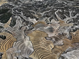 dryland farming #5, monegros county, aragon, spain by edward burtynsky