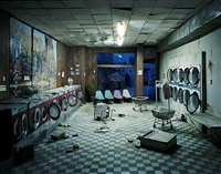 laundromat at night by lori nix