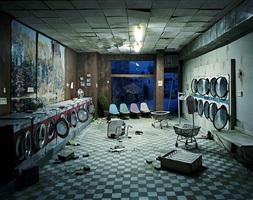 laundromat at night by lori nix