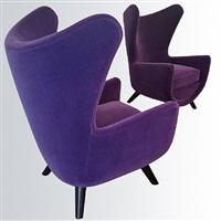 """pair of model """"big elephanteaux"""" arm-chairs /paire de fauteuils modèle """"grand éléphanteaux"""" by jean royère"""