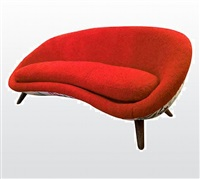 "very rare jean royere couch model ""oeuf""/tres rare canapé modele"