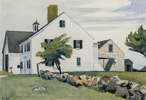 farm house at essex by edward hopper