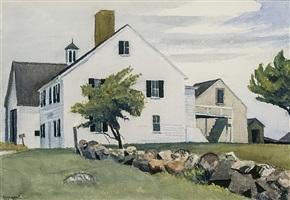 farm house at essex by edward hopper