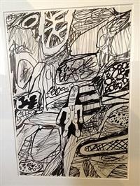 paysage avec un personnage by jean dubuffet