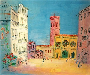 assise by jean dufy