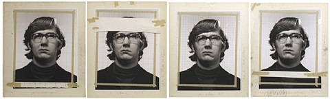 """study for """"keith""""/4 times by chuck close"""