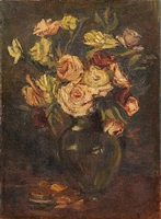 still life with roses by henry f. farny