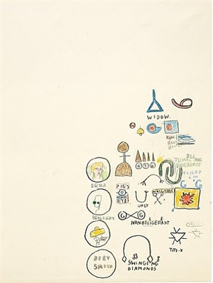 untitled (swinging diamonds) by jean-michel basquiat