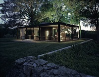 glass house, new canaan by julius shulman and juergen nogai