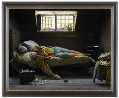 fake death picture (the suicide - manet) by yinka shonibare mbe