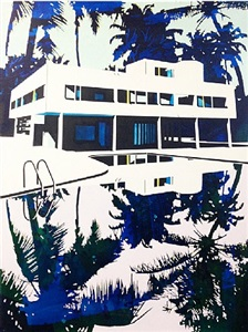 pool home in trees by paul davies