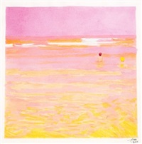 two bathers pink by isca greenfield-sanders