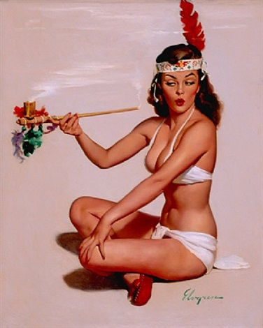 sweet sue (sweet sioux, peace offering) by gil elvgren
