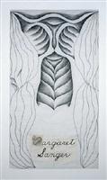 margaret sanger, gridded runner drawing by judy chicago