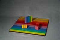 multicolor rearrangeable game board by judy chicago